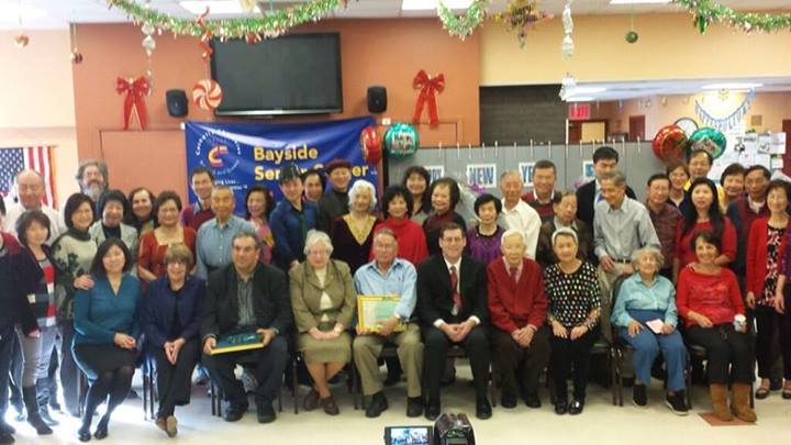 On Saturday, December 21, 2013, Assemblyman Braunstein attended the Key Luck Club at Bayside Senior Center's 2013 Year-End Celebration Luncheon. Assemblyman Braunstein is pictured here with Congresswoman Grace Meng and Senator Toby Ann Stavisky, Key Luck Club President Irene Cheung, CCNS Bayside Senior Center Program Manager Susan Shafer, Queens Gazette Publisher/Editor Tony Barsamian, Vice President of Chinese Center on Long Island George Lum Wong, as well as members of the Key Luck Club.