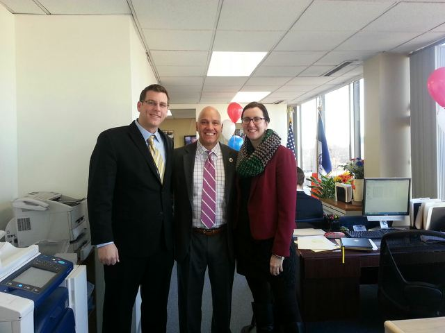 On Thursday, January 30, 2014, Assemblyman Braunstein attended Councilman Paul Vallone's District Office Open House. Assemblyman Braunstein is pictured here with Councilman Vallone and Assemblywoman Nily Rozic.