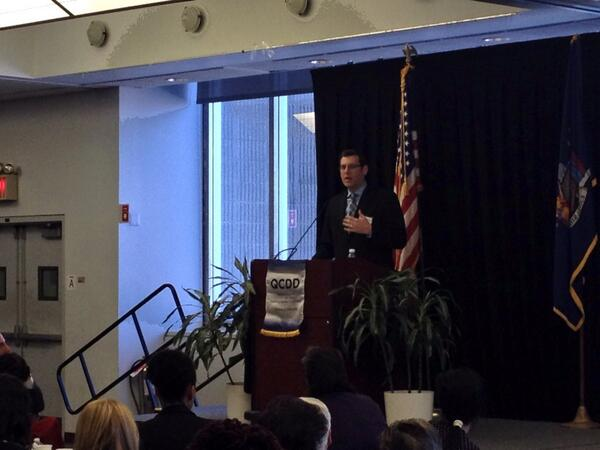 On March 21, 2014, Assemblyman Braunstein spoke at the Queens Council on Developmental Disabilities Legislative Breakfast.