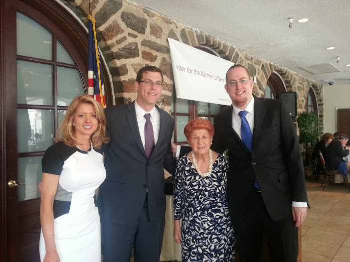 "On April 26, 2014, Assemblyman Braunstein joined the Center for the Women of New York (CWNY) at its 27th Annual Luncheon. Assemblyman Braunstein is pictured with former Assemblywoman Ann Margaret Carrozza, Founder and Chairwoman of the CWNY Ann Jawin, and Assemblyman Braunstein's Chief of Staff, ""Good Guy"" Honoree David Fischer."