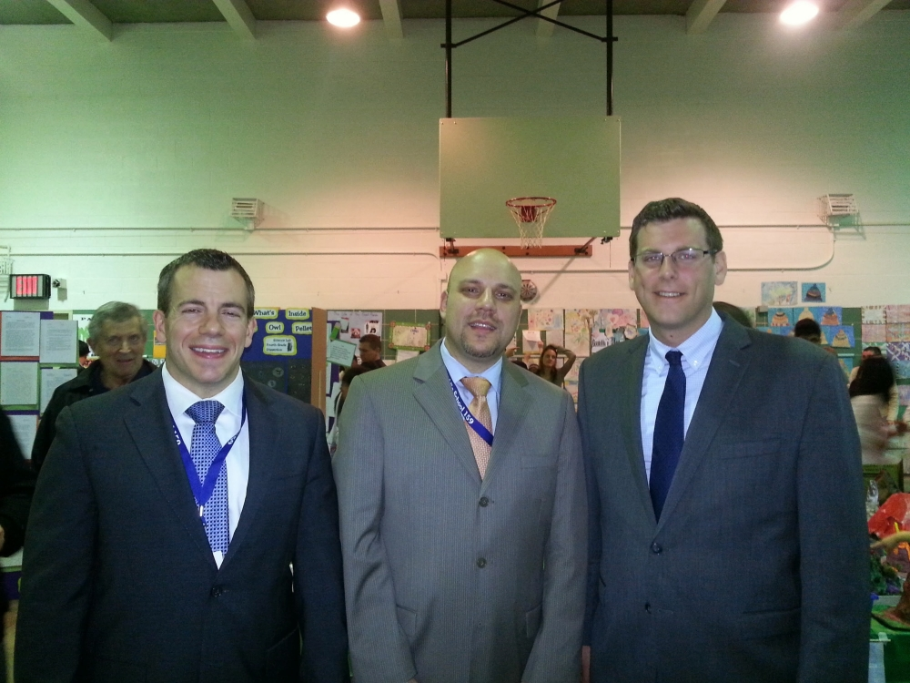 On May 14, 2014, Assemblyman Braunstein attended PS 159's Celebration of Learning. Assemblyman Braunstein is pictured with Assistant Principal Andrew Pecorella and Principal Paul DiDio.