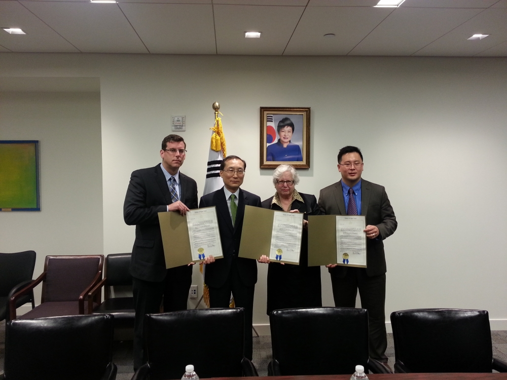 On May 15, 2014, Assemblyman Braunstein, along with Senator Toby Ann Stavisky and Assemblyman Ron Kim, presented a legislative resolution to Consul General of Korea Se-joo Son expressing New York's condolences to the South Korean community in the wake of the sinking of the Sewol ferry.