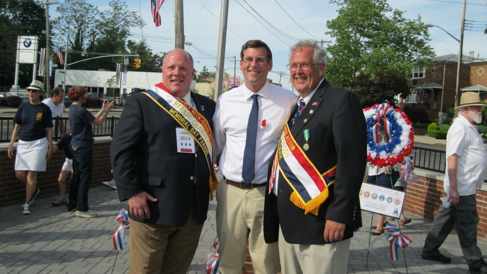 On Monday, May 26, 2014, Assemblyman Braunstein marched in the 87th Annual Little Neck Douglaston Memorial Day Parade. Assemblyman Braunstein is pictured with Parade Co-Chairpersons J. Douglas Montgomery and Charles McBride.