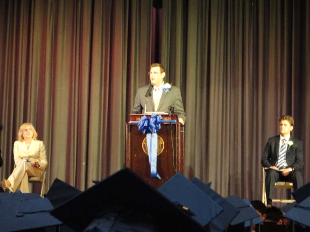 On June 25, 2014, Assemblyman Braunstein addressed the graduates of MS 67 at their commencement ceremony.