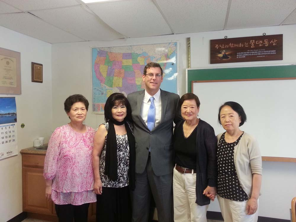 On June 26, 2014, Assemblyman Braunstein visited the Korean American Community Center of New York (KACCNY). Assemblyman Braunstein is pictured with Executive Director Sunny Kim and members of KACCNY.