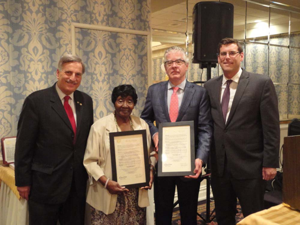 On June 27, 2014, Assemblyman Braunstein was honored by Services Now for Adult Persons, Inc. (SNAP) with the Board of Directors' Award at their 34th Anniversary Celebration. Assemblyman Braunstein is pictured with Assemblyman David Weprin and fellow SNAP honorees Jacqueline Boyce and Peter L. Curry, Esq.