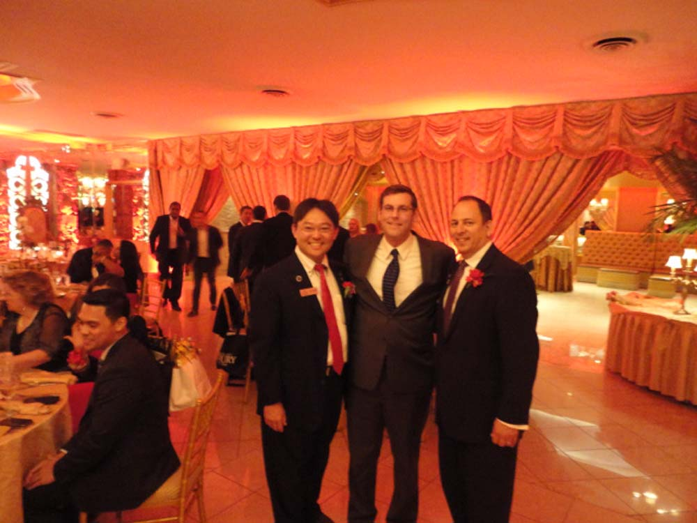 Assemblyman Braunstein attended the Asian Real Estate Association of America's (AREAA) New York East Chapter's 2nd Annual Gala. Assemblyman Braunstein is pictured with Program Chair David Legaz and AREAA Founding Director and Vice President Yoshi Takita.