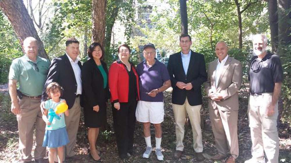 Assemblyman Braunstein joined Alley Pond Environmental Center for its Festival of Little Neck Bay celebrating National Estuaries Day. Assemblyman Braunstein is pictured with Congresswoman Grace Meng, former State Senator Frank Padavan, Council Member Mark Weprin, Council Member Paul Vallone, Community Board 11 Chair Christine Haider, NYC Department of Parks and Recreation's Northeast Queens Administrator Mike Agnello, and Walter Mugdan, President of both the Udalls Cove Preservation Committee and the Westmoreland Association.