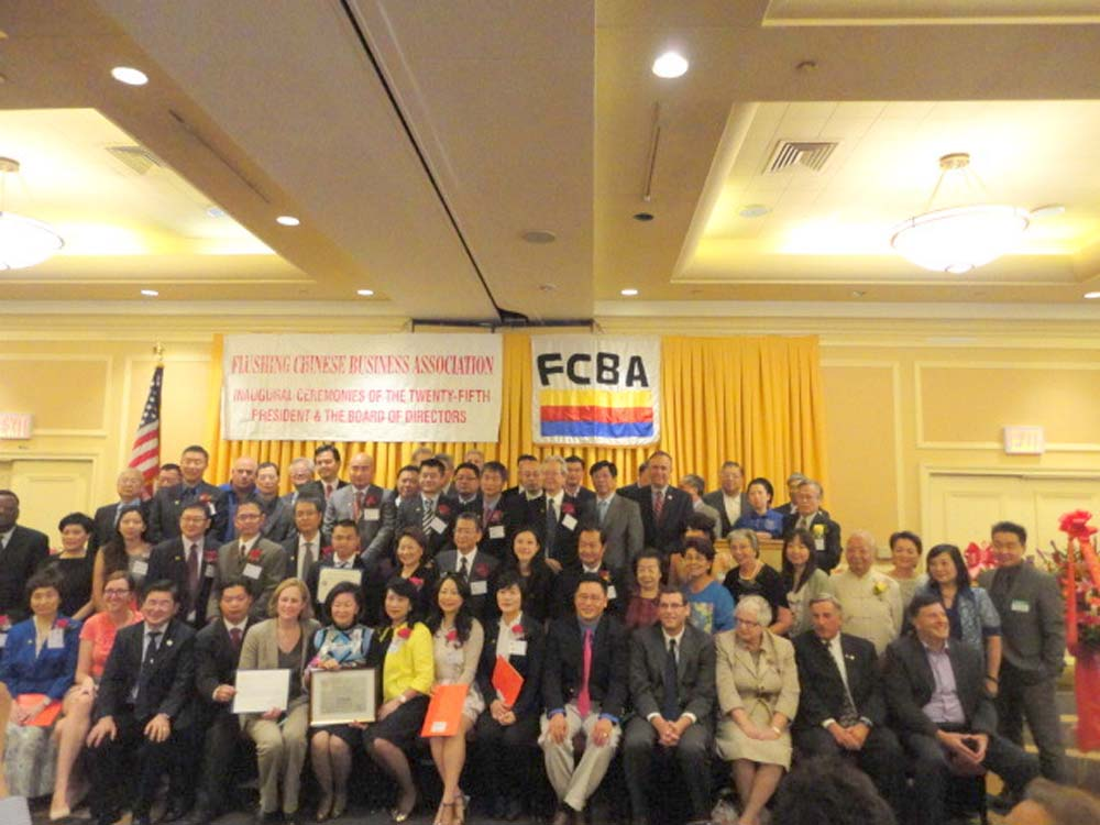 Assemblyman Braunstein joined the Flushing Chinese Business Association and Executive Director Peter Tu for the inauguration of its 25th President Liu Tee Shu and the installation of its board members.