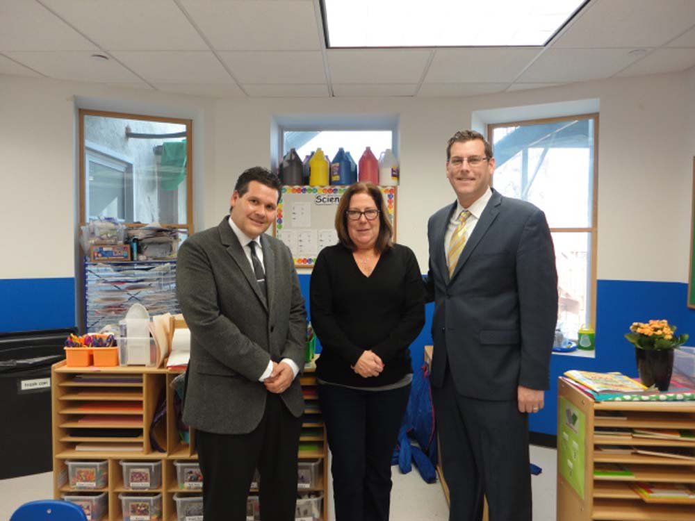 On November 21, 2014, Assemblyman Braunstein visited the Interdisciplinary Center for Child Development (ICCD) School in Bayside. Assemblyman Braunstein is pictured with ICCD Executive Director David Locker and Program Director Laura Sloan.