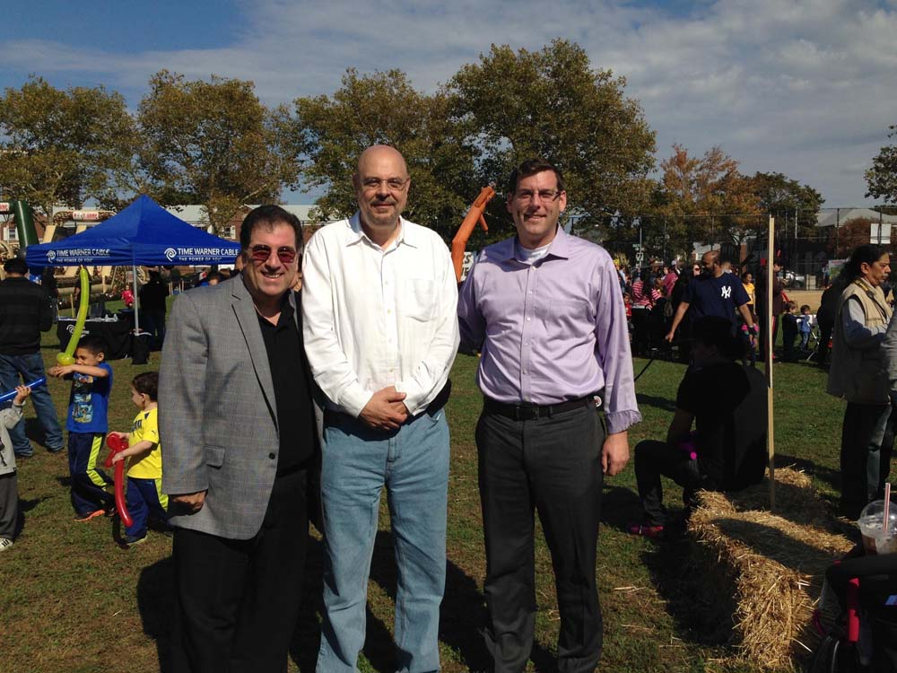Assemblyman Braunstein attended Glen Oaks Village's 4th Annual Fall Festival. Assemblyman Braunstein is pictured with Anthony Lemma of Assemblyman David Weprin's office and Glen Oaks Village President Bob Friedrich.