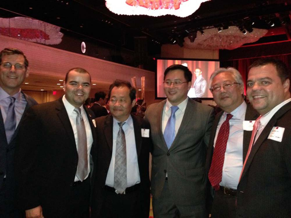 Assemblyman Braunstein attended the 103rd Anniversary Celebration of the Republic of China. Assemblyman Braunstein is pictured with Assemblymen Marcos Crespo, Ron Kim, and Luis Sepúlveda, as well as Flushing Chinese Business Association Executive Director Peter Tu, and Michael Wang, Director of the Chinese-American Planning Council Inc.'s Queens Nan Shan Senior Citizen Center.