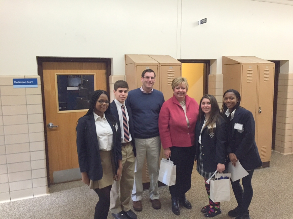 On February 27, 2015, Assemblyman Braunstein attended the Open House of Saint Mary's Elementary School and High School in Manhasset.
