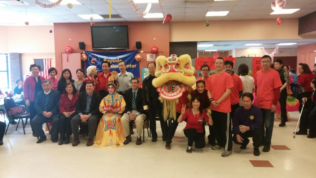 On March 7, 2015, Assemblyman Braunstein attended the Key Luck Club's Lunar New Year Celebration. Assemblyman Braunstein is pictured with Council Member Mark Weprin, Key Luck Club President Irene Cheung, and members of the Key Luck Club.