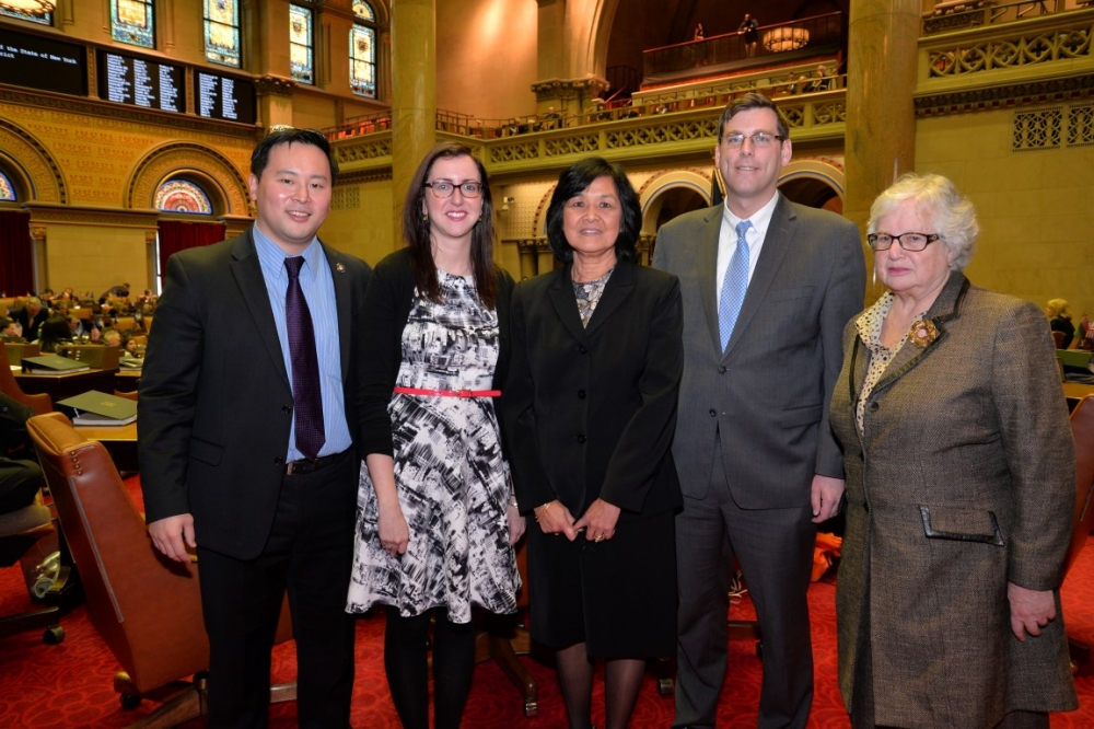 On March 10, 2015, Assemblyman Braunstein welcomed newly-elected Regent for Queens, Little Neck resident Judith Chin, to Albany with Senator Toby Ann Stavisky, Assemblyman Ron Kim, and Assemblywoman Nily Rozic.