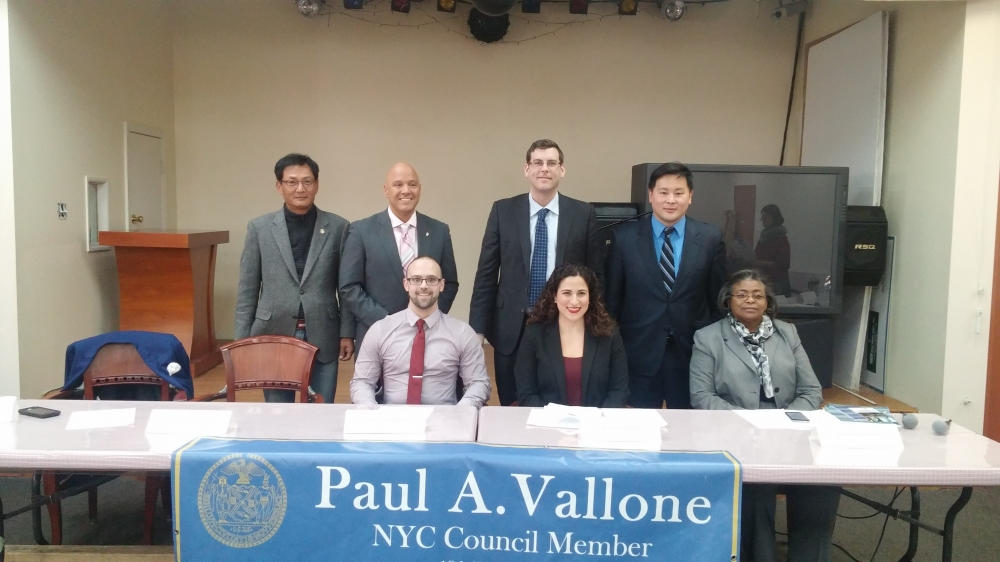 On March 13, 2015, Assemblyman Braunstein, along with Assemblyman Ron Kim and Council Member Paul Vallone, hosted a Small Business Forum at Korean Community Service Center. Assemblyman Braunstein is pictured with representatives from NYC Small Business Services, Procurement Technical Assistance Center of LaGuardia Community College, and LaGuardia Community College's Small Business Development Center, as well as the Korean American Small Business Council of New York.