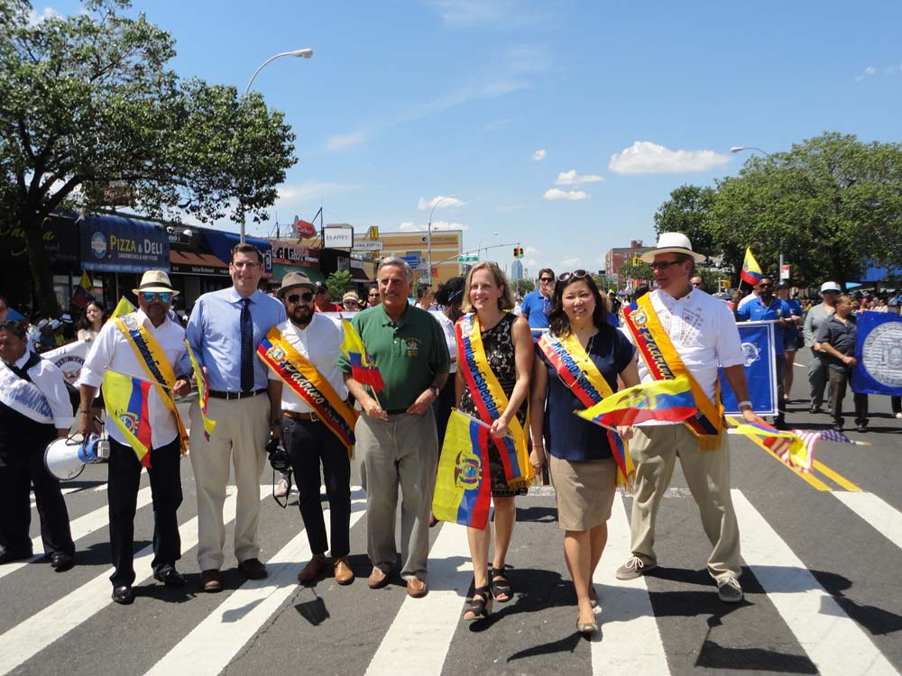 On August 2, 2015, Assemblyman Braunstein marched in the Ecuadorian Parade with his colleagues, Congresswoman Grace Meng, Queens Borough President Melinda Katz, and Assemblymen Francisco Moya, Michael DenDekker, and David Weprin.