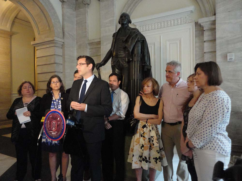 On July 9, 2015, Assemblyman Braunstein spoke at a press conference urging hospitals to stop the filming of patients without consent with Senator Brad Hoylman, Senator Liz Krueger, Council Member Barry Garodnick, Council Member Helen Rosenthal, and the Chanko family.
