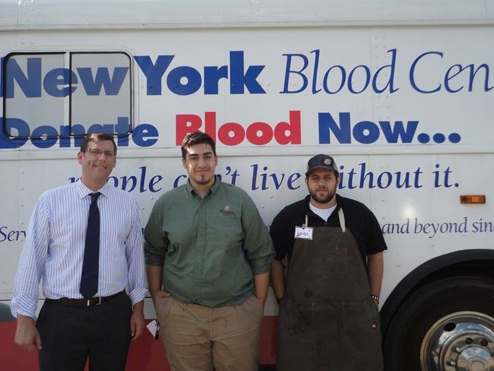 On August 13, 2015, Assemblyman Braunstein sponsored his 3rd Annual Summer Blood Drive in conjunction with the New York Blood Center. Assemblyman Braunstein is pictured with Panera Bread at Bay Terrace Manager Andres Restrepo and Associate Keith Sokol.