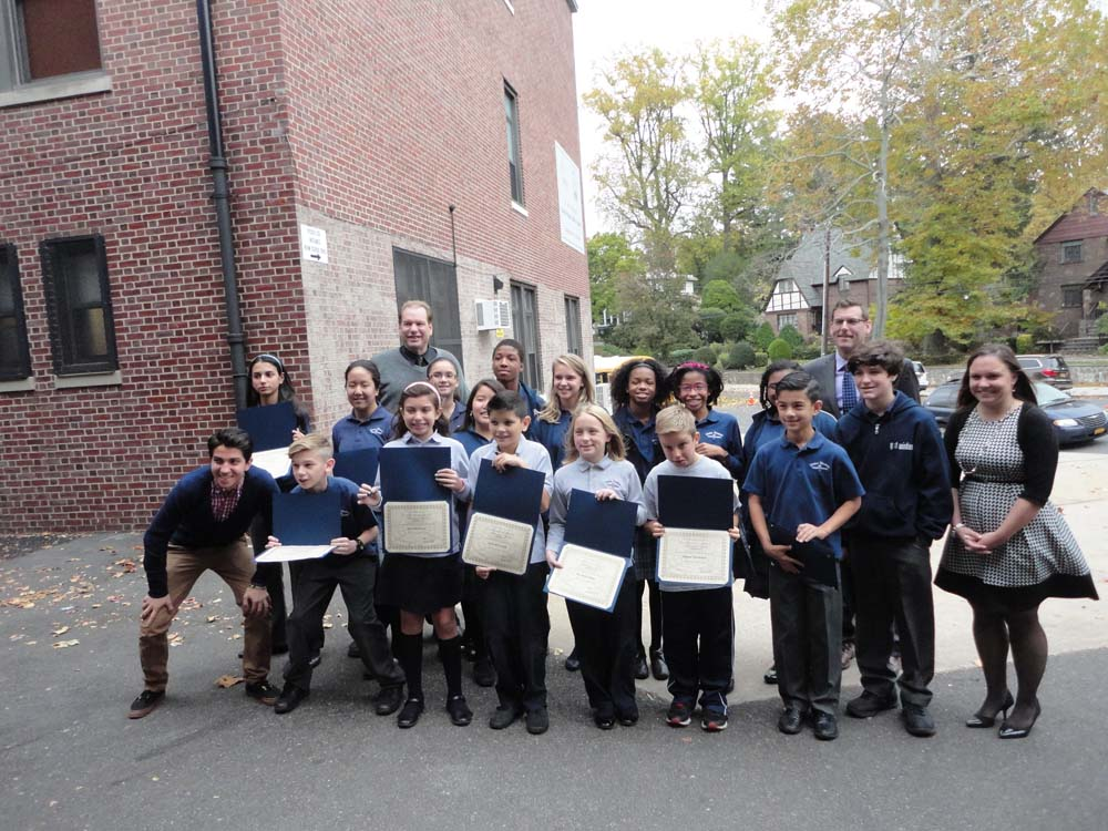 On October 28, 2015, Assemblyman Braunstein installed the Divine Wisdom Catholic Academy of Douglaston Student Council Officers and Representatives for the 2015-2016 school year.