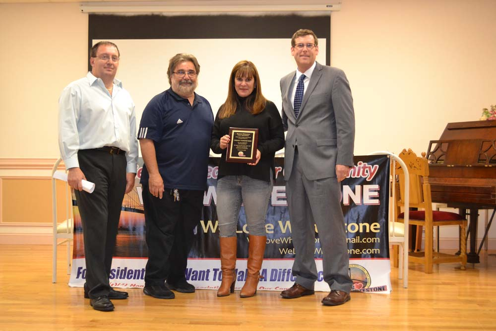 On October 21, 2015, Assemblyman Braunstein sponsored plaques at We Love Whitestone's 1st Anniversary Meeting. The plaques were presented to Deputy Inspector Thomas Conforti, 109th Precinct Community Affairs Detective Kevin O'Donnell, 109th Precinct Community Council President Chrissy Voskerichian, and FDNY Engine 295 & Ladder 144 in recognition of their service to the community.