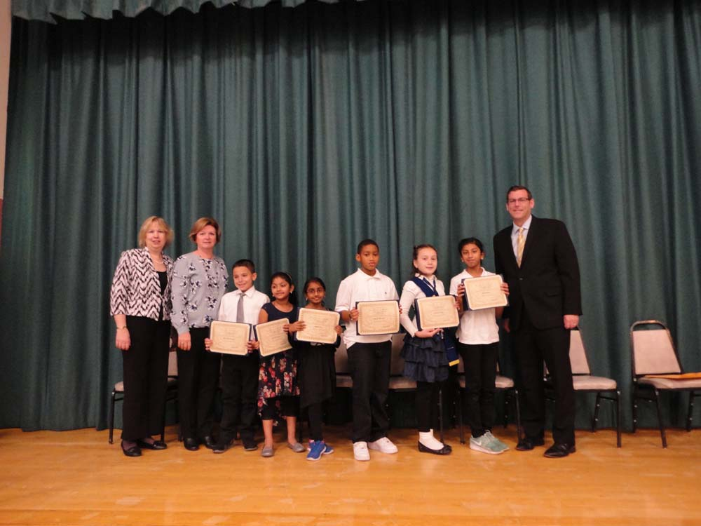 On November 10, 2015, Assemblyman Braunstein inducted the Student Council of PS 115 in Floral Park. Assemblyman Braunstein is pictured with Principal Kathleen Sciortino, Student Council Moderator Mary O'Donoghue, and the Student Council.