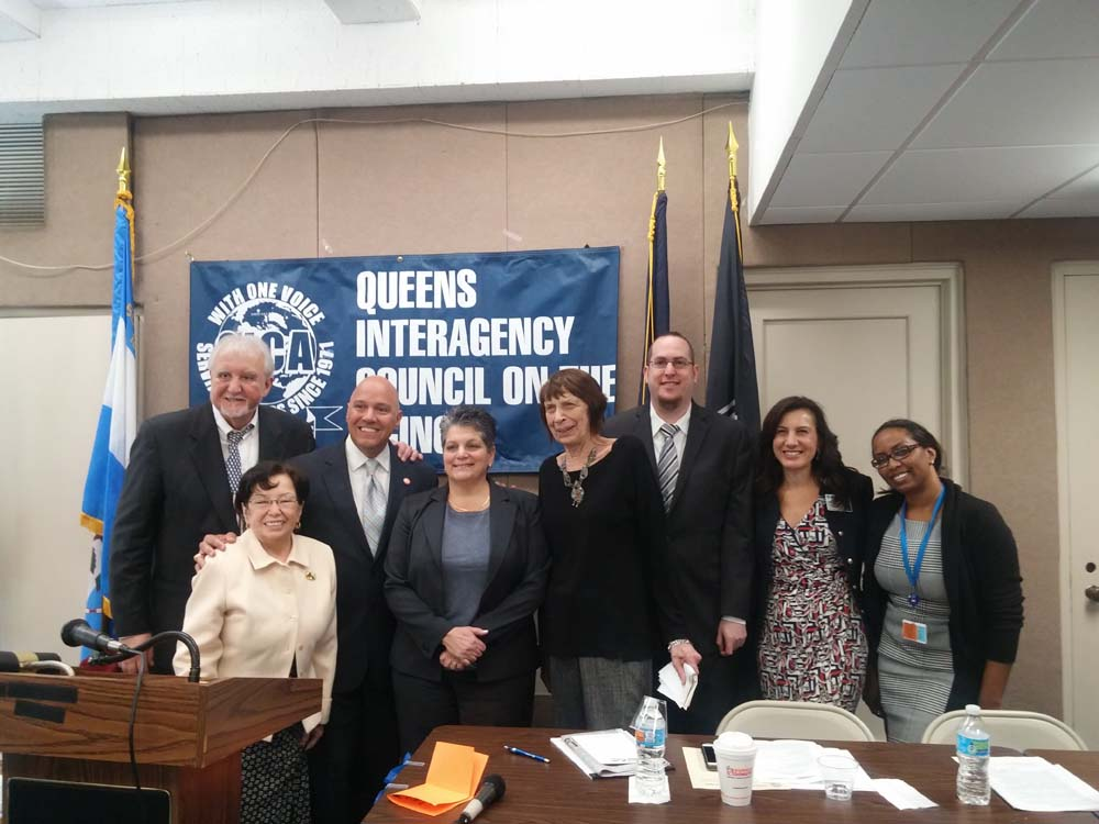 On May 18, 2016, Chief of Staff David Fischer represented Assemblyman Braunstein when his office co-sponsored the Queens Interagency Council on Aging's City Council and State Assembly Town Hall Meeting at Queens Borough Hall.