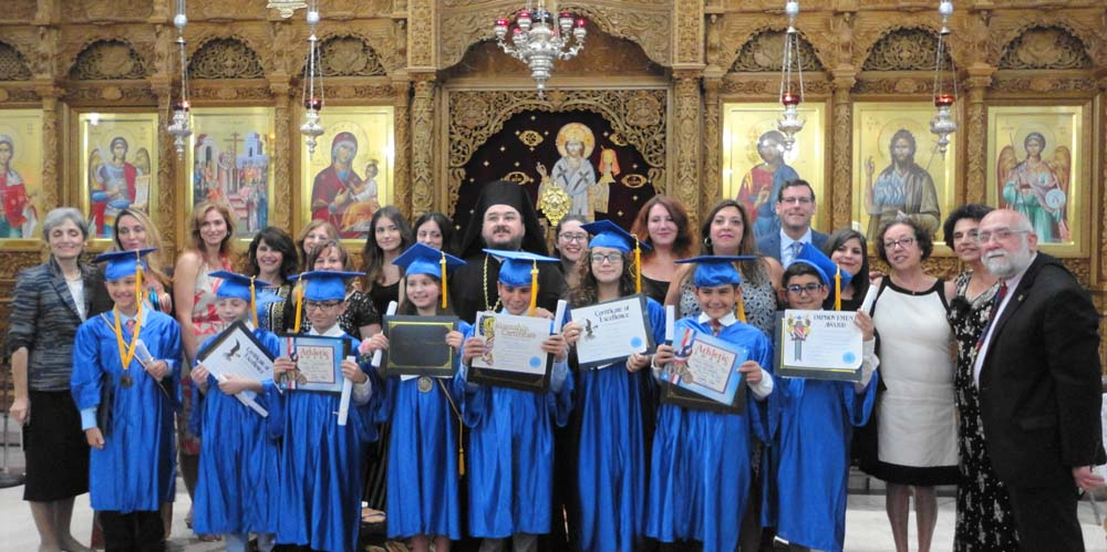 On June 23, 2016, Assemblyman Edward C. Braunstein joined Holy Cross Greek Orthodox Day School of Whitestone as they celebrated their first graduating class.