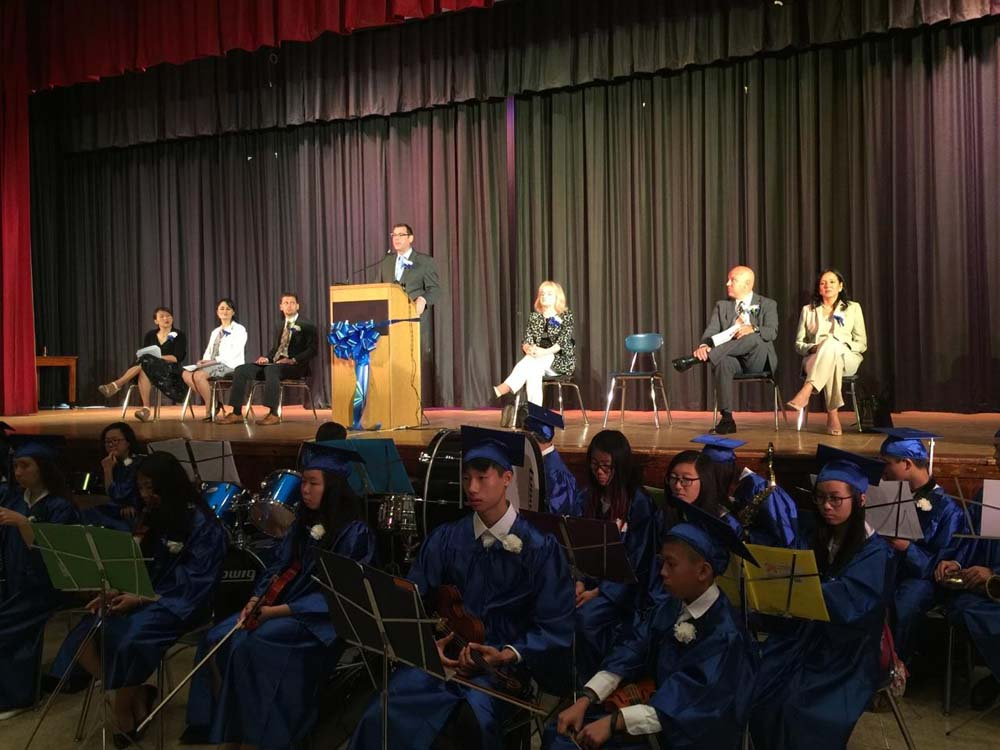 On June 27, 2016, Assemblyman spoke during MS 67's graduation ceremonies.