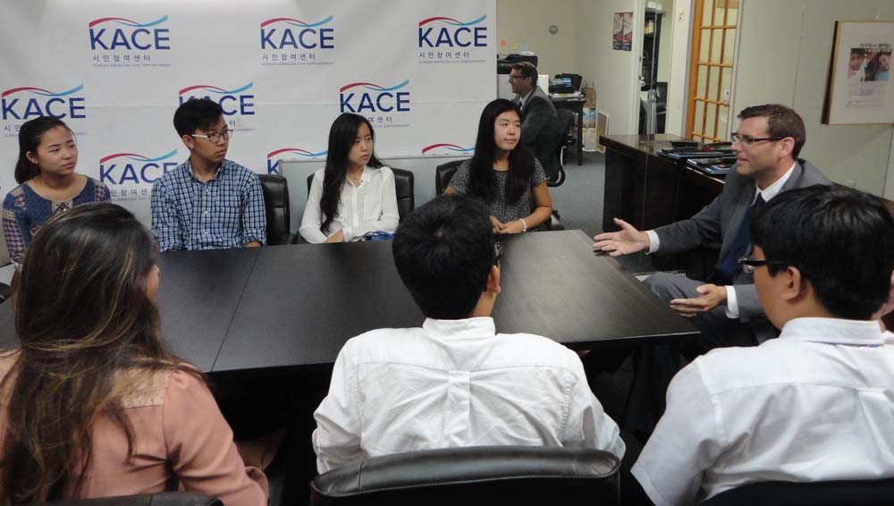 On August 10, 2016, Assemblyman Braunstein spoke to Korean American Civic Empowerment interns about legislation that he has introduced and important local issues.<br /> <br />