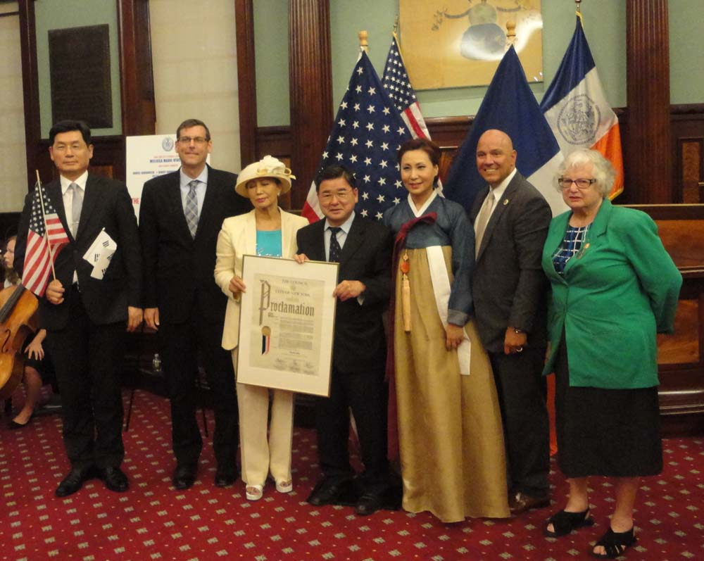 On August 15, 2016, Assemblyman Braunstein attended the New York City Council's 71st Annual Korean Independence Day celebration.<br />