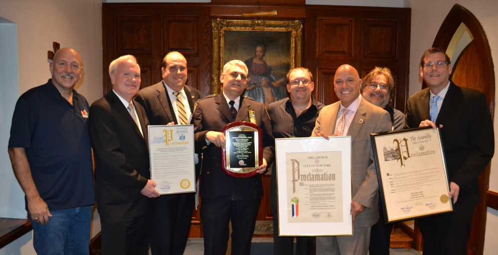 On November 16, 2016, Assemblyman Braunstein presented a joint New York State Assembly Proclamation with Assemblyman Michael Simanowitz to Inspector Thomas Conforti at a meeting of the We Love Whitestone Civic Association. Inspector Conforti was the Commanding Officer of the 109th Precinct from 2014 until May, 2016, and is currently the Commanding Officer of the NYPD Crime Prevention Division.