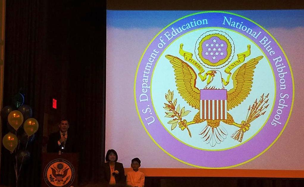 On December 8, 2016, Assemblyman Braunstein attended PS 98: The Douglaston School's 2016 National Blue Ribbon Celebration.<br />