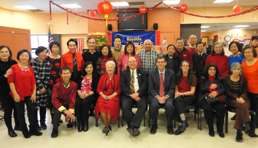 On February 11, 2017, Assemblyman Braunstein attended the Key Luck Club's Lunar New Year Celebration with Council Member Barry Grodenchik.<br />