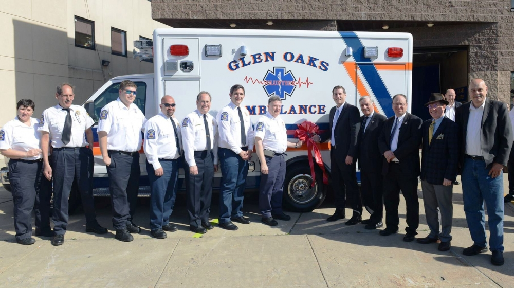On May 21, 2017, Assemblyman Braunstein attended the Glen Oaks Volunteer Ambulance Corps (GOVAC) Ambulance Dedication Ceremony. Assemblyman Braunstein provided a $125,000 grant to GOVAC for the new am