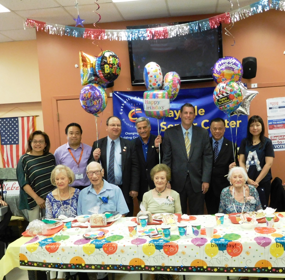 On July 28, 2017, Assemblyman Braunstein attended Bayside Senior Center's Special Century Club Birthday Celebration in honor of Irving Black, who turns 103 on August 23rd, Pauline Kossar, who tur