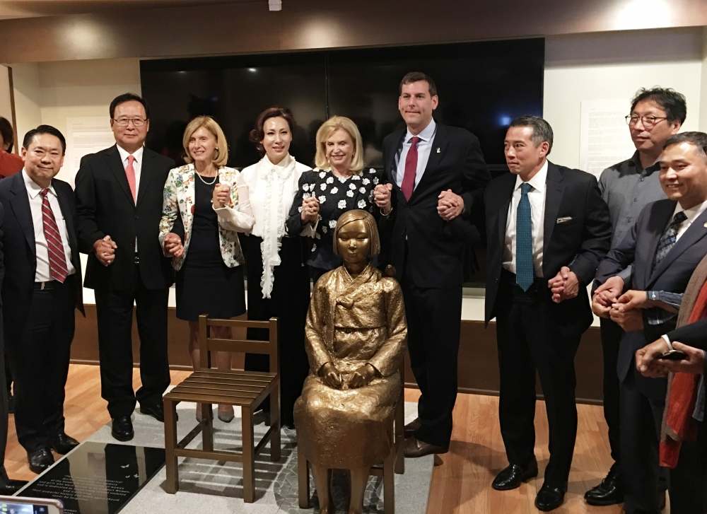 On October 13, 2017, Assemblyman Braunstein attended the unveiling of the Comfort Women Statue of Peace, hosted by the Korean American Association of Greater New York, at the Museum of Korean American
