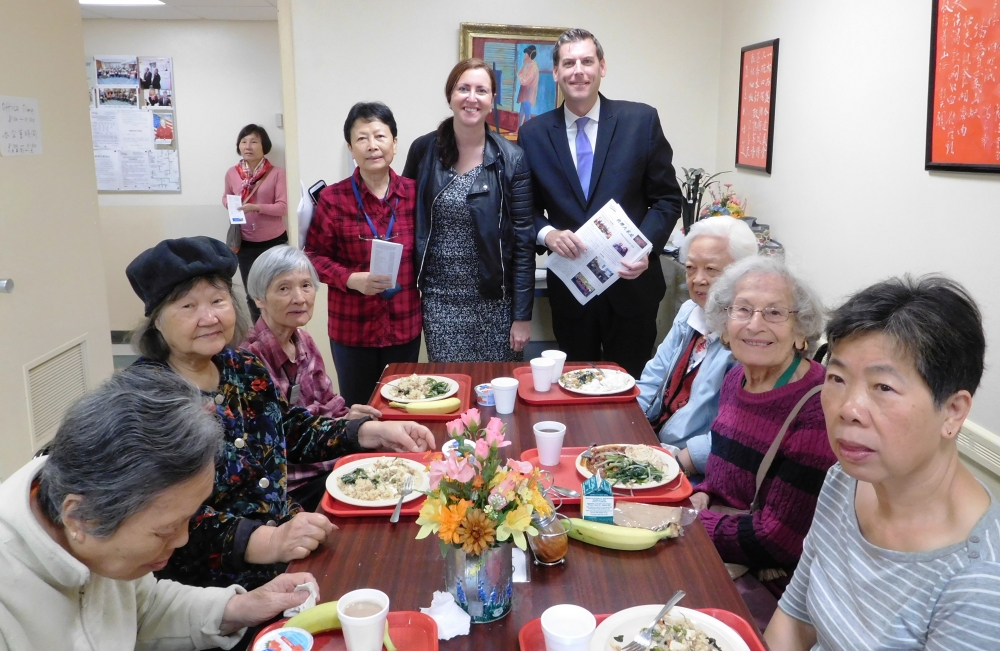 On October 23, 2017, Assemblyman Braunstein visited the Selfhelp Community Services, Inc. Benjamin Rosenthal-Prince Street Innovative Senior Center in Flushing with Assemblywoman Nily Rozic.<br />
