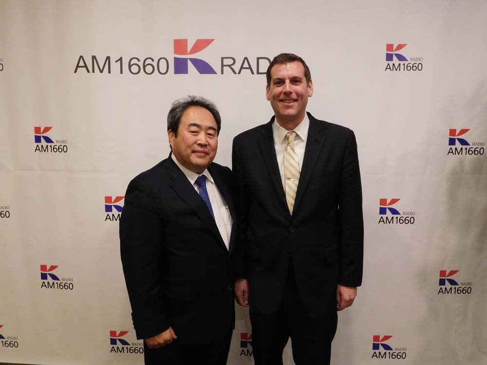 On December 22, 2017, Assemblyman Braunstein attended K-Radio's Dinner Show and is pictured with Suk Chan Lee, Chairman of K-Radio.