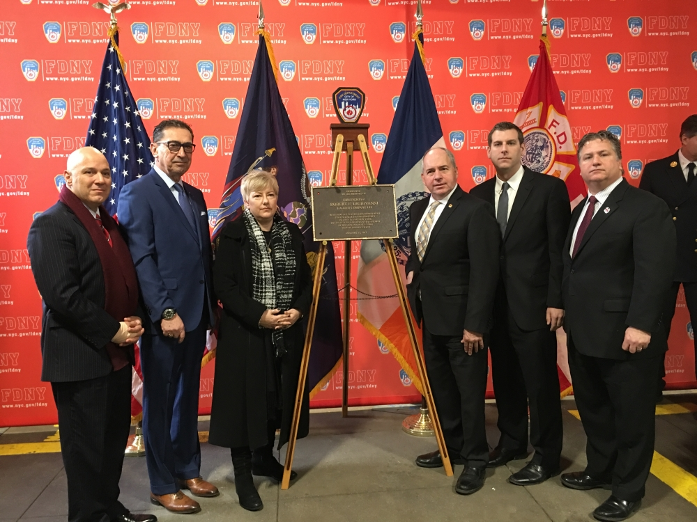 On January 19, 2018, Assemblyman Braunstein attended a Plaque Dedication honoring the life of Firefighter Robert F. DiGiovanni of Ladder 144, who died of a World Trade Center-related illness in 2017.