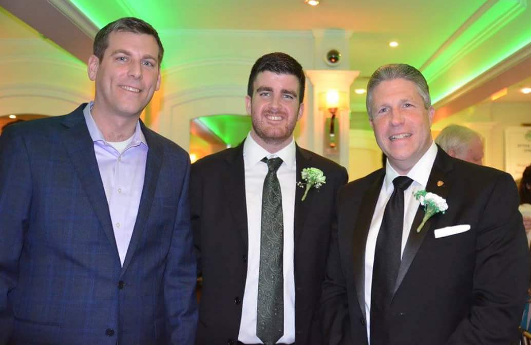 On January 20, 2018, Assemblyman Braunstein attended the Bayside St. Patrick's Day Dinner Dance and is pictured with Parade President Kieran Mahoney and Grand Marshal Patrick J. Lynch, President