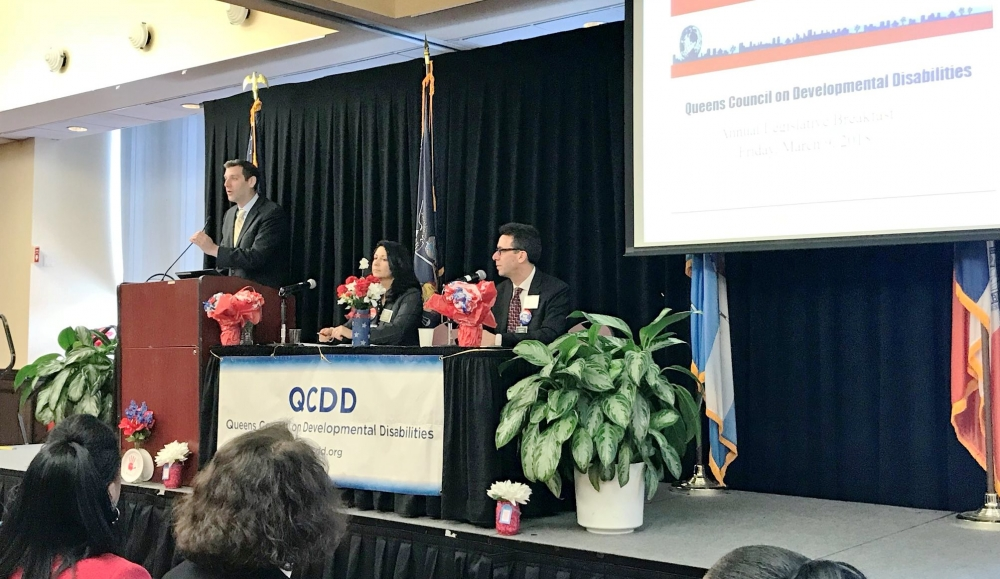 On March 9, 2018, Assemblyman Braunstein attended the Queens Council on Developmental Disabilities Annual Legislative Breakfast.