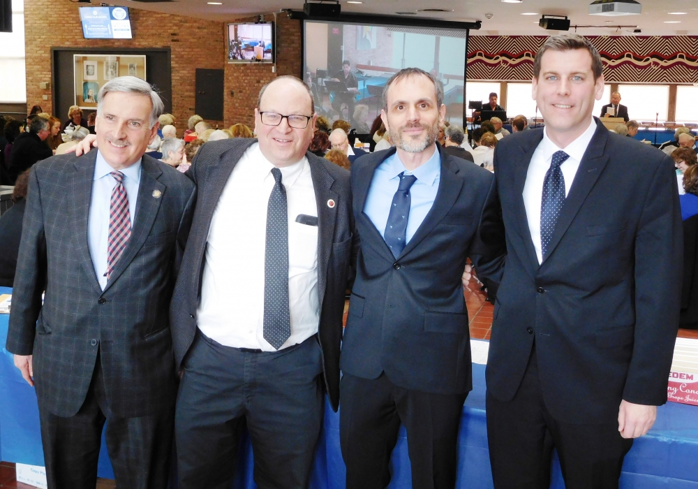 On March 25, 2018, Assemblyman Braunstein attended the Queensborough Community College Kupferberg Holocaust Center's Annual Holocaust Freedom Seder with Assemblyman David Weprin and Council Membe
