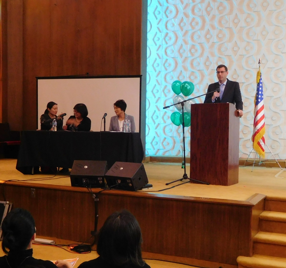 On April 12, 2018, Assemblyman Braunstein attended the New York City Department of Education's Native Language Parent Conference at Korean Community Services of Metropolitan New York, Inc. in Bay