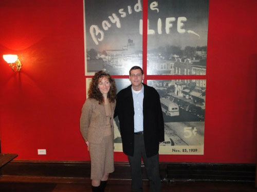 Assemblyman Braunstein with Margaret Anne Tockarshewsky of the Bayside Historical Society.