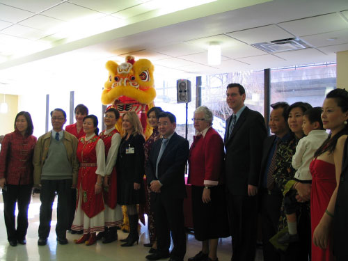 Assemblyman Braunstein with Senator Toby Ann Stavisky, Assemblywoman Grace Meng & friends at the New York Hospital Queens' Lunar New Year Celebration.