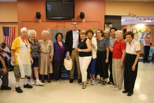 On Tuesday, June 28, 2011, Assemblyman Braunstein visited members of Bayside Senior Center and Director Susan Shafer.