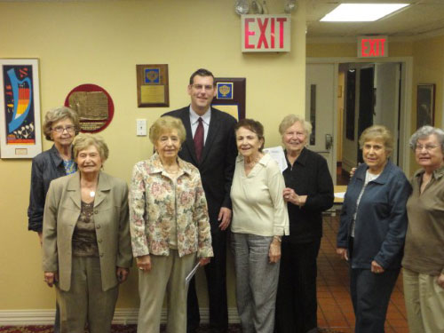 Assemblyman Braunstein was a guest at the Jewish Women International monthly meeting on May 19, 2011 at the B'nai B'rith House in Flushing.