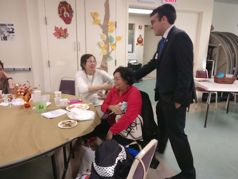 <strong>Joining Kew Gardens Senior Center for Thanksgiving Lunch: </strong>Assemblymember Rosenthal joined neighbors for lunch at the Kew Gardens Senior Center. The center is home to a wide array of programming and great food, thanks to the amazing work of Queens Community House and its dedicated members!<br />