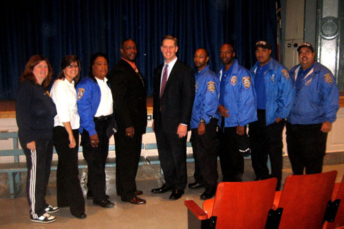Assemblyman Hevesi joined New York Police Department School Safety Officers during a presentation to combat bullying in our community's schools.